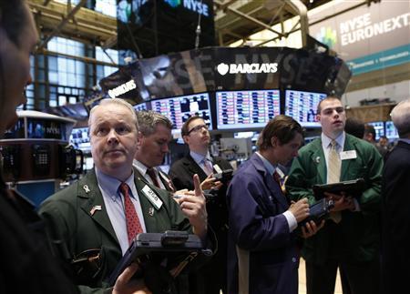 Traders work on the floor of the New York Stock Exchange, March 1, 2013. REUTERS/Brendan McDermid