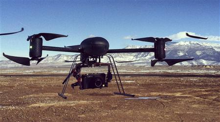 A Draganflyer X6, six-rotor remote controlled helicopter which can fly up to 20 mph and travel up to a quarter mile away and 400 feet high, is pictured at the Grand Valley Model Airfield in Mesa County, Colorado on January 31, 2013. REUTERS/Chris Francescani