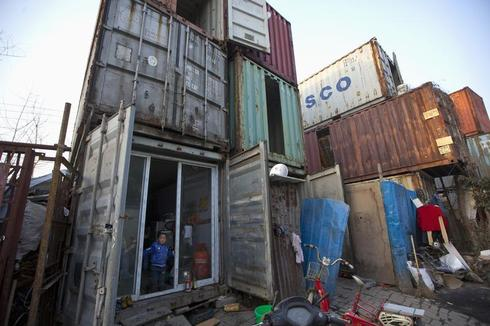 Living in a shipping container