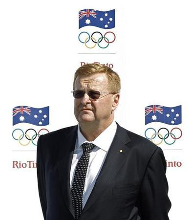 Australian Olympic Committee (AOC) President John Coates attends a media event in Sydney to announce Rio Tinto's sponsorship of the AOC, April 14, 2011. REUTERS/Tim Wimborne