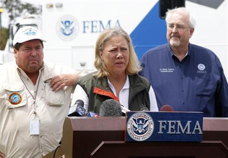U.S. Senator Mary Landrieu (D-LA) speaks during a news conference after Hurricane Isaac in Belle Chasse, Louisiana, August 31, 2012. REUTERS/Jonathan Bachman