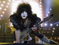 Paul Stanley of rock band Kiss performs during a concert on their Latin America tour, at the Jockey Club in Asuncion November 12, 2012. REUTERS/Jorge Adorno