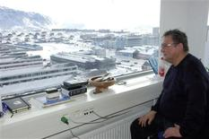 Greenland's Prime Minister Kuupik Kleist looks out from his office in Nuuk, March 7, 2013. REUTERS/Alistair Scrutton