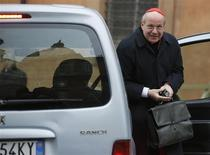 Austrian Cardinal Christoph Schoenborn arrives for a meeting at the Synod Hall in the Vatican March 6, 2013. REUTERS/Tony Gentile