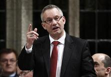 Canada's International Trade Minister Ed Fast speaks during Question Period in the House of Commons on Parliament Hill in Ottawa October 25, 2012. REUTERS/Chris Wattie