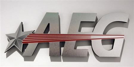 The logo of Anschutz Entertainment Group (AEG), a subsidiary of the Anschutz Company, is seen in Los Angeles, California February 9, 2011. REUTERS/Fred Prouser