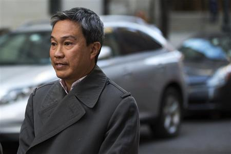 Tai Nguyen, president of Insight Research LLC, departs the Manhattan Federal Courthouse after a sentencing hearing regarding his pleading guilty to insider trading in New York, March 14, 2013. REUTERS/Lucas Jackson