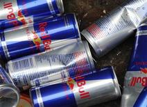 Red Bull drink cans are pictures inside a metal recycle container in Vienna March 15, 2013. REUTERS/Heinz-Peter Bader