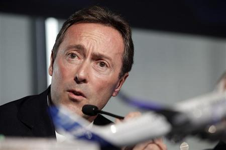 Fabrice Bregier, Airbus President and Chief Executive Officer attends the Airbus annual news conference in Toulouse, January 17, 2013. REUTERS/Jean-Philippe Arles