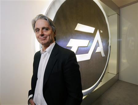 Electronic Arts' EA.O Chief Executive Officer John Riccitiello poses during E3, the Electronic Entertainment Expo, in Los Angeles in this June 8, 2011 file photo. Riccitiello has resigned, saying he was ''accountable'' for the company's missing operational targets. Riccitiello will step down from his post as CEO and member of the board of directors on March 30, the video game company said on March 18, 2013. REUTERS/Phil McCarten/Files