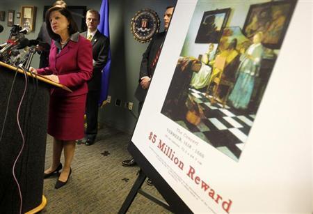 3月18日、FBIは、ボストンの美術館で1990年に起きた米国史上最大の美術品盗難事件について、容疑者を特定したことを明らかにした。米マサチューセッツ州ボストンで撮影(2013年 ロイター/Jessica Rinaldi)