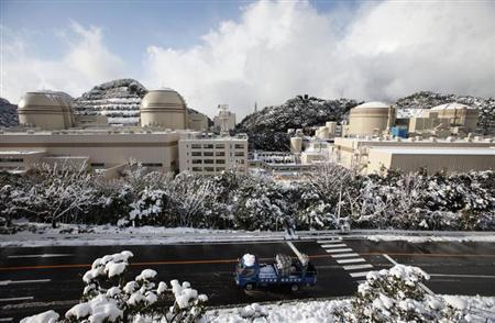 3月19日、原子力規制委員会は、7月に予定している原発新安全基準の施行に向けた「基本方針案」を提示した。写真は全国で唯一稼働している関西電力の大飯原発。福井県で昨年1月撮影(2013年 ロイター/Issei Kato)