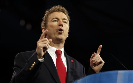 Senator Rand Paul of Kentucky speaks at the Conservative Political Action Conference (CPAC) at National Harbor, Maryland March 14, 2013. REUTERS/Kevin Lamarque