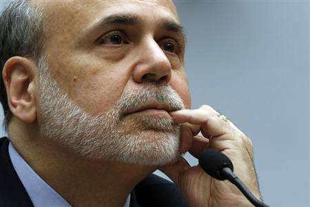 Chairman of the U.S. Federal Reserve Ben Bernanke testifies at the House Committee on Financial Services on Capitol Hill in Washington, February 27, 2013. REUTERS/Larry Downing