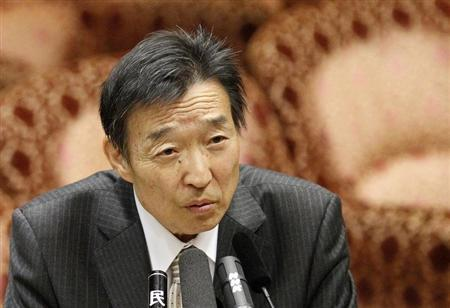 Kikuo Iwata attends a hearing session at the upper house of the parliament in Tokyo March 12, 2013. REUTERS/Yuya Shino