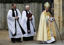 The new Archbishop of Canterbury Justin Welby arrives for his enthronement ceremony at Canterbury Cathedral, in Canterbury, southern England March 21, 2013. REUTERS/Luke MacGregor