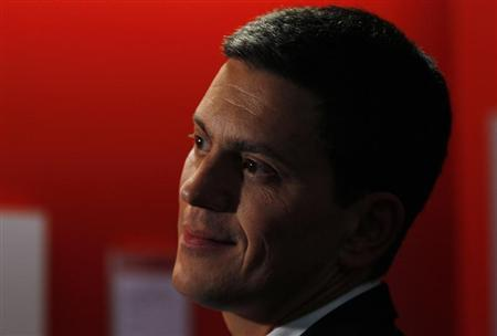 British Labour Party MP David Miliband prepares to speak at a fringe meeting on the first day of Britain's opposition Labour party's annual conference in Liverpool, northern England September 25, 2011. REUTERS/Phil Noble
