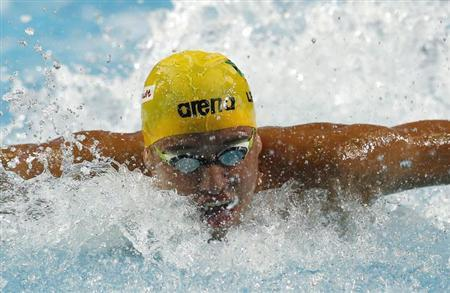 Chad Le Clos of South Africa competes in the men's 50m butterfly semi-finals during the FINA World Swimming Championships in Istanbul December 14, 2012. REUTERS/Murad Sezer/Files