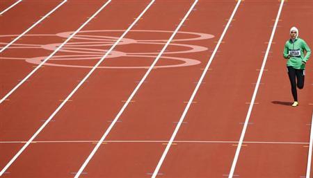 3月30日、女性の権利が制限されているサウジアラビアで、初めて女性のスポーツクラブに認可が与えられることになった。写真はロンドン五輪に出場したサラ・アタル選手。昨年8月撮影(2013年 ロイター/David Gray)