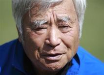 Japanese alpinist Yuichiro Miura, 80, speaks during an interview with Reuters in Kathmandu March 30, 2013. REUTERS/Navesh Chitrakar