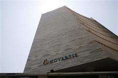 Siège de Novartis à Bombay. La Cour suprême indienne a rejeté lundi la demande de brevet déposée par la société pharmaceutique suisse Novartis pour son médicament Glivec employé dans le traitement du cancer, mettant fin à un combat juridique de plusieurs années. /Photo prise le 1er avril 2013/REUTERS/Vivek Prakash