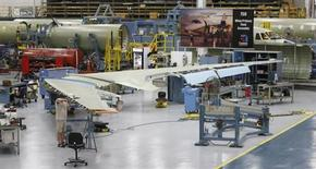 Nathan Rogers works on the jet assembly line at Cessna, at their manufacturing plant in Wichita, Kansas March 12, 2013. REUTERS/Jeff Tuttle