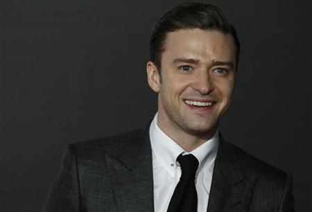 U.S. singer Justin Timberlake arrives for the BRIT Awards, celebrating British pop music, at the O2 Arena in London February 20, 2013. REUTERS/Luke Macgregor