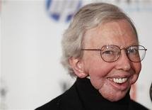 """Film critic Roger Ebert arrives to attend the Webby Awards in New York in this file photo taken June 14, 2010. Ebert announced Tuesday that he will take a """"leave of presence"""" after a recurrence of cancer. The Pulitzer Prize-winning critic has had a series of health struggles since being diagnosed with papillary thyroid cancer in 2002. REUTERS/Lucas Jackson/Files"""