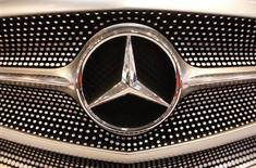 The logo of a Mercedes car is pictured during a press presentation prior to the Essen Motor Show in Essen November 30, 2012. REUTERS/Ina Fassbender