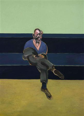 Francis Bacon's ''Study for Portrait of PL 1962,'' an oil on canvas, is seen in an undated handout photo from Sotheby's. The painting is expected to sell for $30 million to $40 million when it auctioned at Sotheby's New York on May 14. REUTERS/Sotheby's/Handout