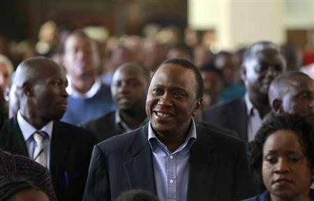 Kenya's newly elected President Uhuru Kenyatta attends the Easter Mass at the Saint Austin's Catholic church in the capital Nairobi, March 31, 2013. REUTERS/Thomas Mukoya