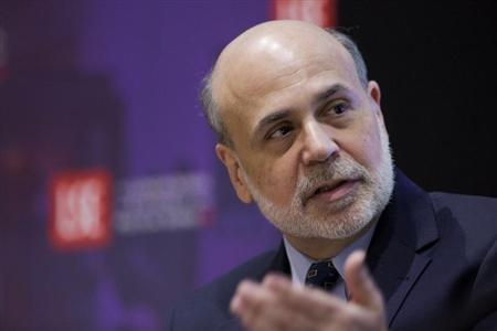 Chairman of the the U.S. Federal Reserve Ben Bernanke speaks at the London School of Economics in London March 25, 2013. REUTERS/Jason Alden/POOL
