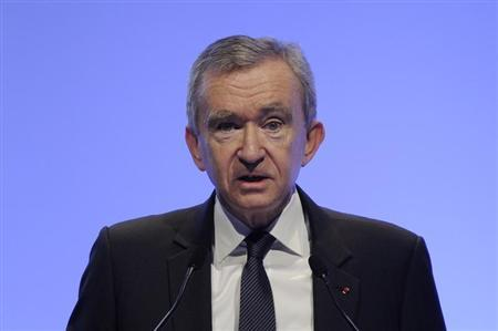 LVMH Chief Executive Bernard Arnault speaks during a news conference to present the group's 2010 results in Paris February 4, 2011. REUTERS/Gonzalo Fuentes