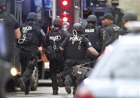 Gunfire heard in search for Boston Marathon bomb...