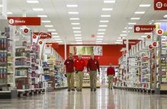 Employees walk through the new Target store in Guelph, Ontario, March 4, 2013, on the eve of the store's opening. REUTERS/Geoff Robins