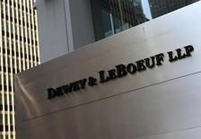 A sign marking the Dewey & LeBoeuf LLP headquarters on 6th avenue is seen in New York May 29, 2012. REUTERS/Shannon Stapleton