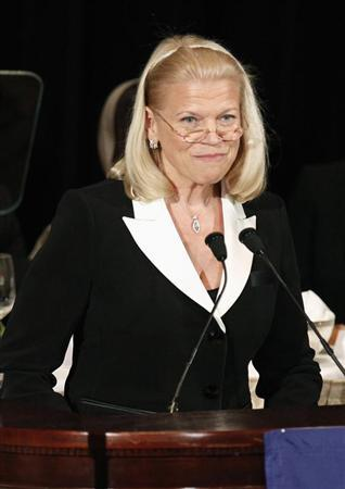 IBM Chief Executive Officer and Chairman of the Board Virginia Rometty gives a speech to the Appeal of Conscience Foundation in New York September 27, 2012. REUTERS/Carlo Allegri/Files