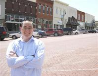 """Mike Bosch, part of a """"rural by choice"""" movement, is pictured in Baldwin City, Kansas, April 24, 2013. Bosch kept his IT business instead of moving it to Dallas. Young people have been leaving rural America for decades, but Mike Bosch, 34, is happy toswim against the tide. REUTERS/Kevin Murphy"""