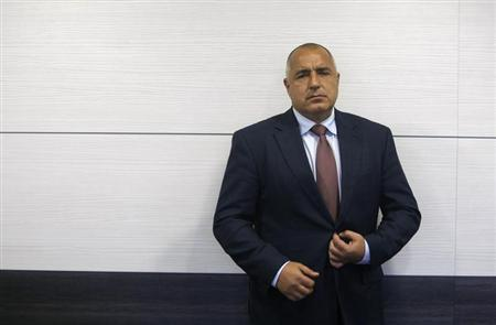 Bulgaria's former Prime Minister and head of centre-right GERB party Boiko Borisov poses for a picture during an interview with Reuters in Sofia April 24, 2013. REUTERS/Pierre Marsaut