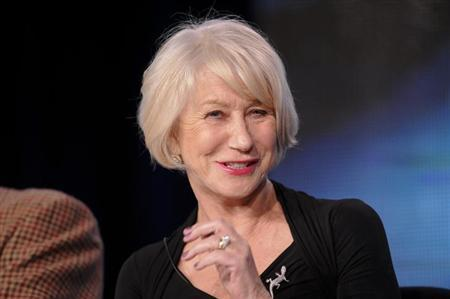 British actress Helen Mirren takes part in a panel discussion of HBO's ''Phil Spector'' during the 2013 Winter Press Tour for the Television Critics Association in Pasadena, California January 4, 2013. REUTERS/Gus Ruelas