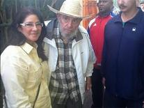 Former Cuban leader Fidel Castro meets Venezuela's First Lady Cilia Flores in Havana, in this picture provided by Venezuela's President Nicolas Maduro via Twitter on April 27, 2013. REUTERS/Venezuela's President Nicolas Maduro via Twitter/Handout