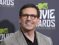 Actor Steve Carell arrives at the 2013 MTV Movie Awards in Culver City, California April 14, 2013. REUTERS/Phil McCarten