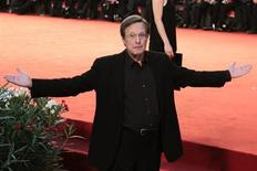"""Director William Friedkin gestures during a red carpet for his film """"Killer Joe"""" at the 68th Venice Film Festival September 8, 2011. REUTERS/Alessandro Bianchi"""