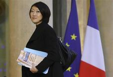 French Junior Minister of Small Business, Innovation, and Digital Economy Fleur Pellerin arrives at the Elysee Palace in Paris to attend a meeting on investment strategy, January 10, 2013. REUTERS/Philippe Wojazer