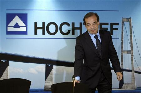 CEO of Hochtief AG, Marcelino Fernandez Verdes arrives for the annual news conference in Duesseldorf February 28, 2013. REUTERS/Ina Fassbender