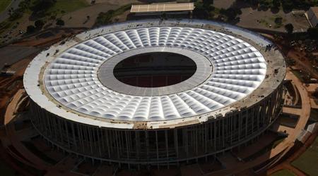A general view of the National Mane Garrincha Stadium, seen under construction in Brasilia April, 28, 2013. REUTERS/Ueslei Marcelino