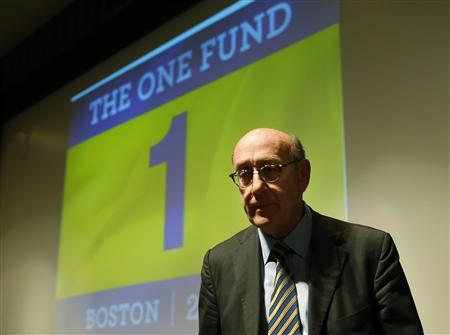 Ken Feinberg, administrator for ''The One Fund, Boston'', waits to begin a town hall style meeting about the fund in Boston, Massachusetts May 7, 2013. ''The One Fund, Boston'' is a fund for the victims of the Boston Marathon bombings. REUTERS/Brian Snyder
