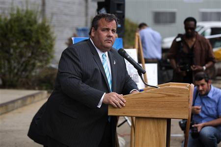 New Jersey Governor Chris Christie speaks at a groundbreaking ceremony for the Technology Enhanced Accelerated Learning Center news conference in Newark, New Jersey, May 7, 2013. Christie, who has struggled with obesity for much of his adult life, said on Tuesday he underwent lap band surgery in February to lose weight, a move he said had nothing to do with a possible run for the White House in 2016. REUTERS/Lucas Jackson