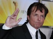 U.S. actor Michael J. Fox arrives on the red carpet for the 46th 'Goldene Kamera' (Golden Camera) awards ceremony at the Ullstein Auditorium in Berlin, February 5, 2011. REUTERS/Thomas Peter