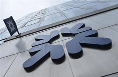 A logo at a Royal Bank of Scotland (RBS) branch is seen in the City of London March 6, 2013. REUTERS/Toby Melville